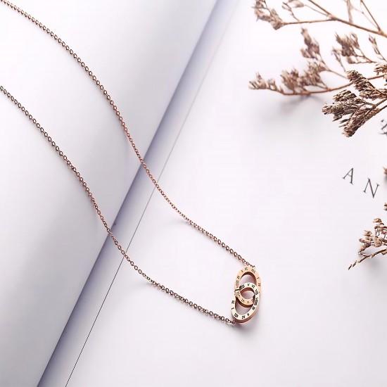 Women Steel Necklace 7076