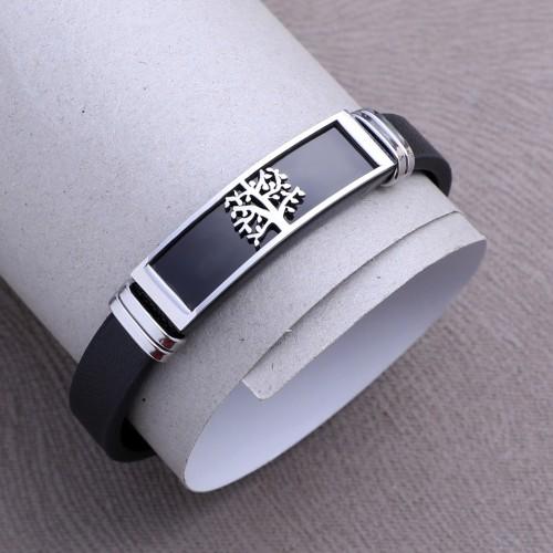 Agaç Desenli Çelik Bileklik