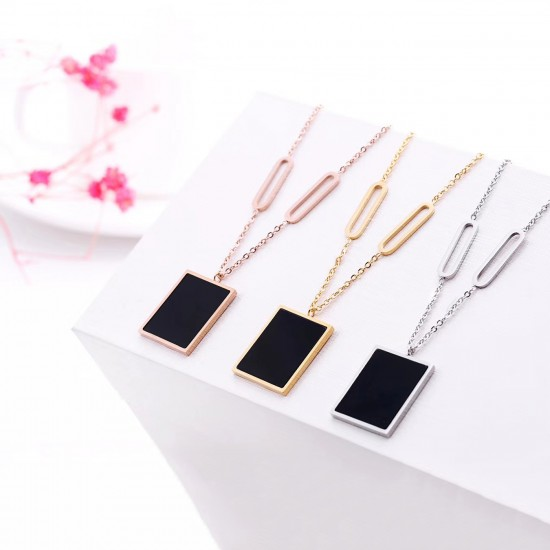 Women Steel Necklace 6936
