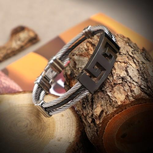 Çelik Halat Kordonlu Çelik Bileklik 4P14D1