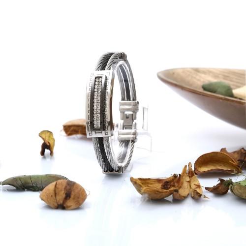 Çelik Halat Kordonlu Çelik Bileklik