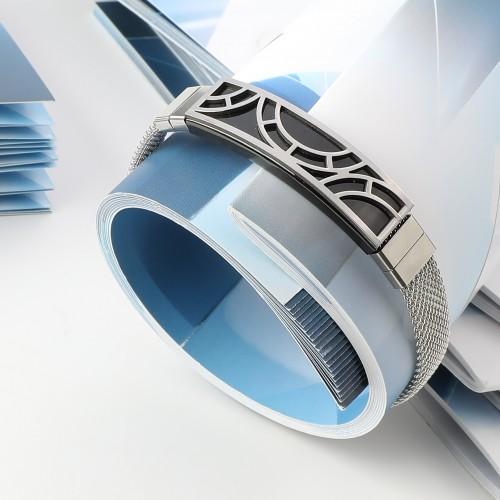 Hasır Kordonlu Çelik Bileklik