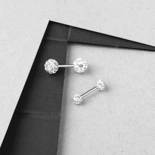 İki Uçlu Taşlı Piercing