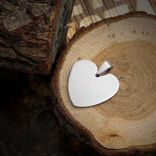Kalp Figürlü Çelik Kolye Ucu