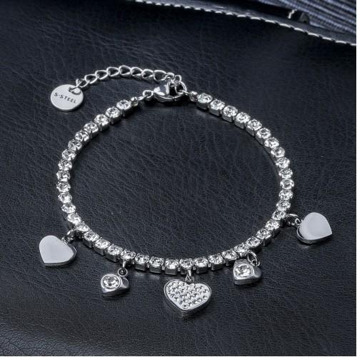 Kalp Pandora Su Yolu Çelik Bileklik