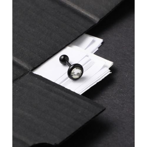 Siyah Tek Taş Piercing