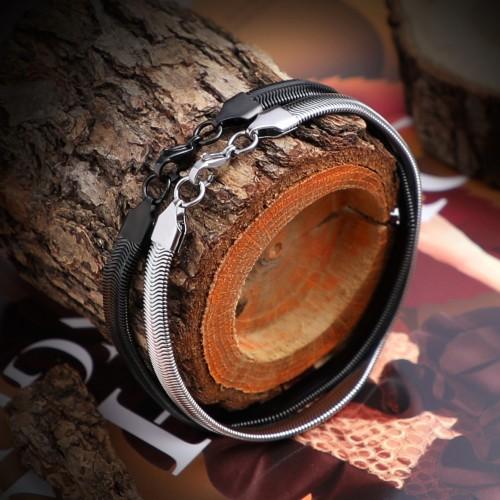 Yassı Spiral Çelik Zincir Bileklik