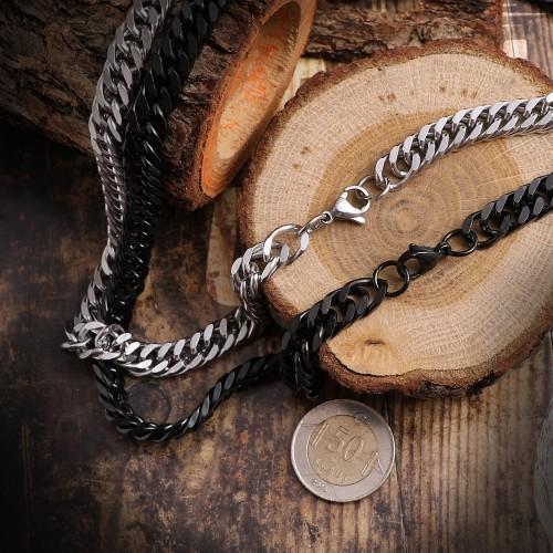 Yassı Zincir Modeli Erkek Çelik Kolye